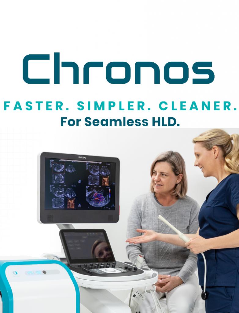 Chronos Faster. Simpler. Cleaner. For Seamless High Level Disinfection HLD